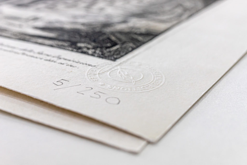 Blind Embossing the giclée print