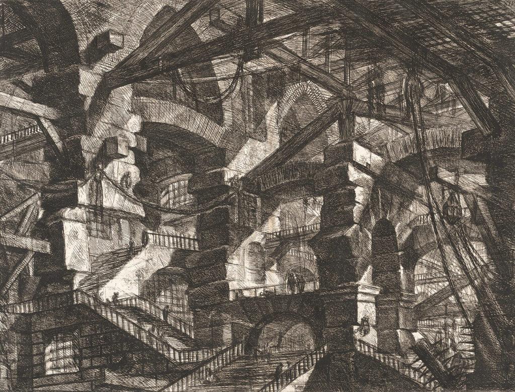 Gothic Arch. Plate 14. Giovanni Battista Piranesi – Carceri d'Invenzione – Imaginary Prison. Heritage Prints. Museum quality giclee print.