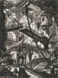 the Draw Bridge. Plate 07. Giovanni Battista Piranesi – Carceri d'Invenzione – Imaginary Prison. Heritage Prints. Museum quality giclee print.