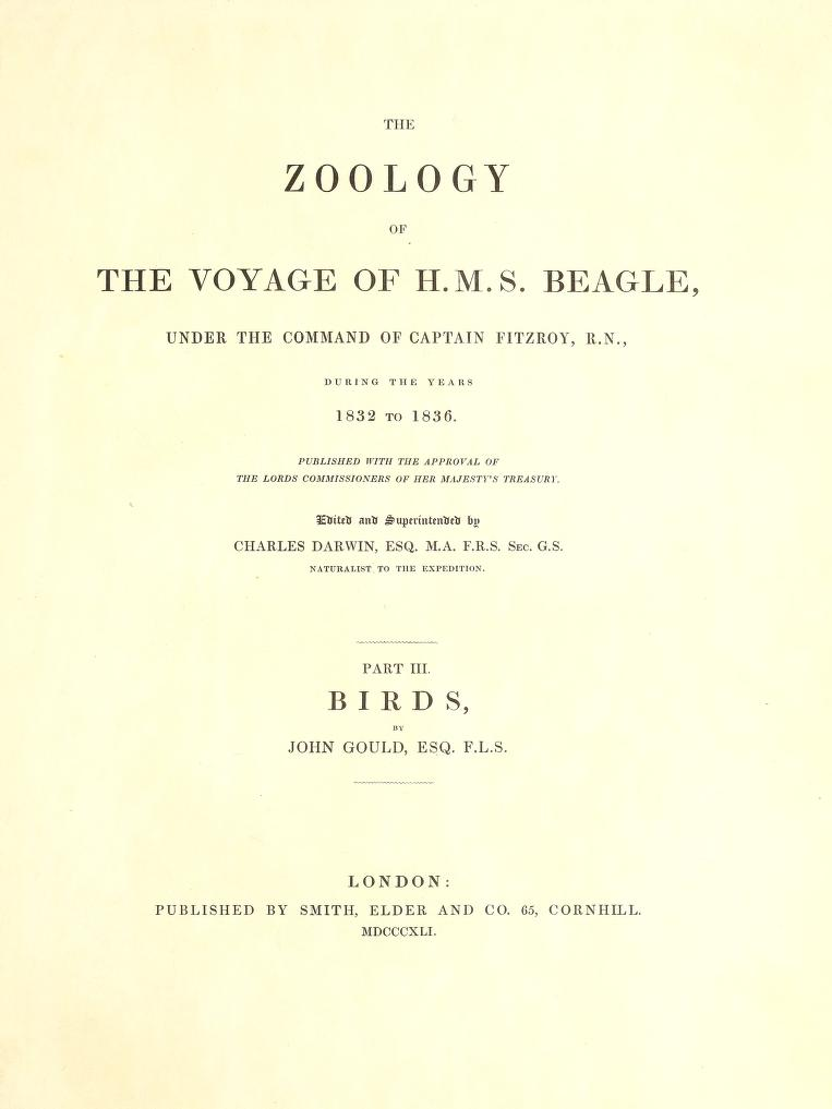 John Gould's influence in the development of Charles Darwin's theory