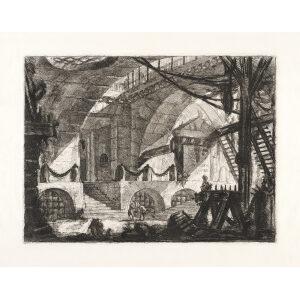 The Saw Horse. Plate 12. Giovanni Battista Piranesi – Carceri d'Invenzione – Imaginary Prison. Heritage Prints. Museum quality giclee print.