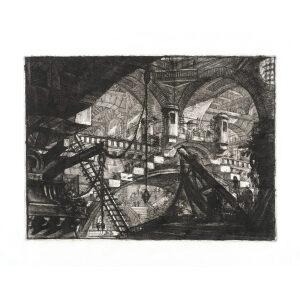 The Arch with Shell. Plate 11. Giovanni Battista Piranesi – Carceri d'Invenzione – Imaginary Prison. Heritage Prints. Museum quality giclee print.