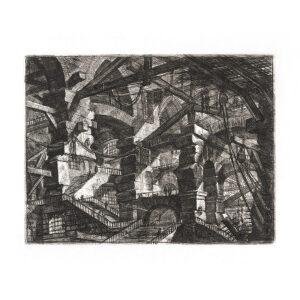 The Gothic Arch. Plate 14. Giovanni Battista Piranesi – Carceri d'Invenzione – Imaginary Prison. Heritage Prints. Museum quality giclee print.