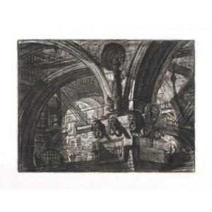 The Pier with Lamp. Plate 15. Giovanni Battista Piranesi – Carceri d'Invenzione – Imaginary Prison. Heritage Prints. Museum quality giclee print. - Giovanni Piranesi - Carceri d'Invenzione – Museum quality giclee prints