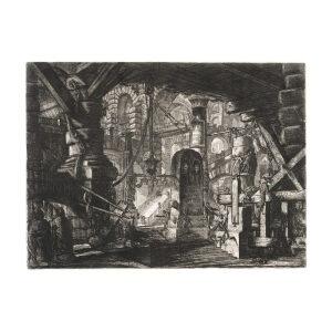 The Pier with Chains. Plate 16. Giovanni Battista Piranesi – Carceri d'Invenzione – Imaginary Prison. Heritage Prints. Museum quality giclee print. - Giovanni Piranesi - Carceri d'Invenzione – Museum quality giclee prints