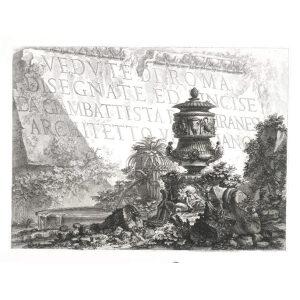 Frontespizio I - Giovanni Battista Piranesi – Le Vedute di Roma – Facsimile Giclee Print