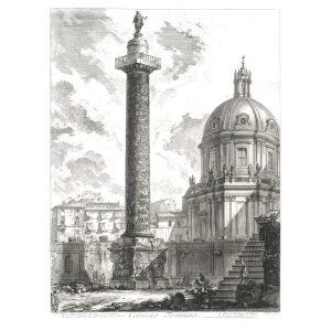Colonna Trajana - Giovanni Battista Piranesi – Le Vedute di Roma – Facsimile Giclee Print