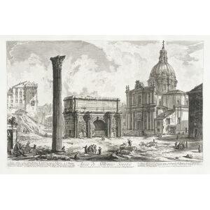 Arco Settimio Severo - Giovanni Battista Piranesi – Le Vedute di Roma – Facsimile Giclee Print