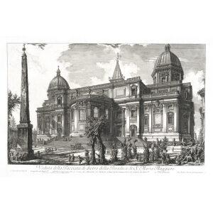 Veduta della Facciata di dietro della Basilica di S. Maria Maggiore - Giovanni Battista Piranesi – Le Vedute di Roma – Facsimile Giclee Print