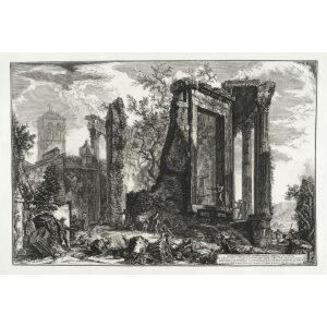 Altra veduta del Tempio Della Sibilla in Tivoli (1) - Giovanni Battista Piranesi – Le Vedute di Roma – Facsimile Giclee Print