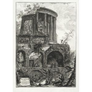 Altra veduta del Tempio della Sibilla in Tivoli (2) - Giovanni Battista Piranesi – Le Vedute di Roma – Facsimile Giclee Print