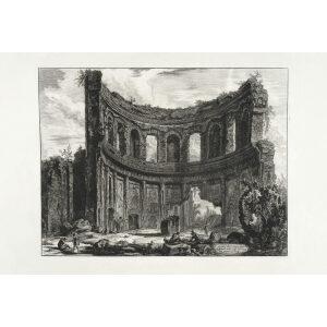 Avanzi del Tempio detto di Apollo della Villa Adriana - Giovanni Battista Piranesi – Le Vedute di Roma – Facsimile Giclee Print