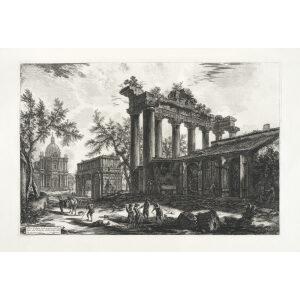 Altra Veduta degli avanzi del Pronao del Tempio della Concordia - Giovanni Battista Piranesi – Le Vedute di Roma – Facsimile Giclee Print